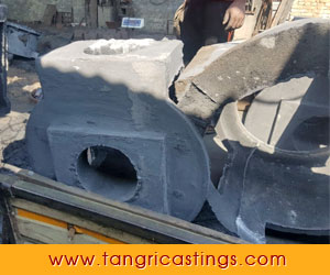 Oil Expeller Machine Base Casting - machine parts castings - steel castings company in punjab ludhiana india